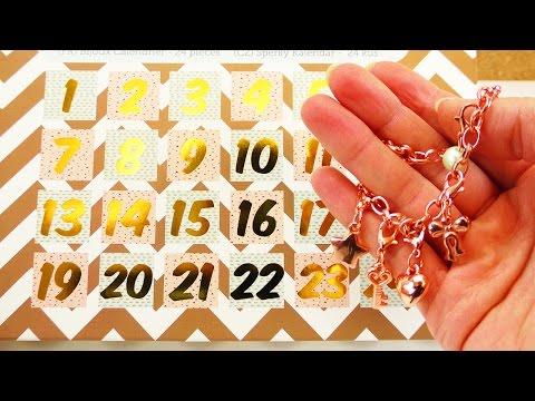 Schmuck ADVENTSKALENDER   Wir öffnen alle Türchen   Cooler Adventskalender   rosegold DIY Armbänder