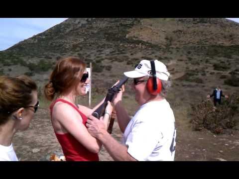 Jo shooting an M1 Garand