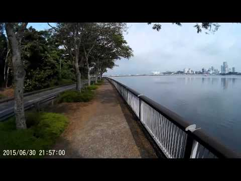 Cycling to Woodlands Waterfront