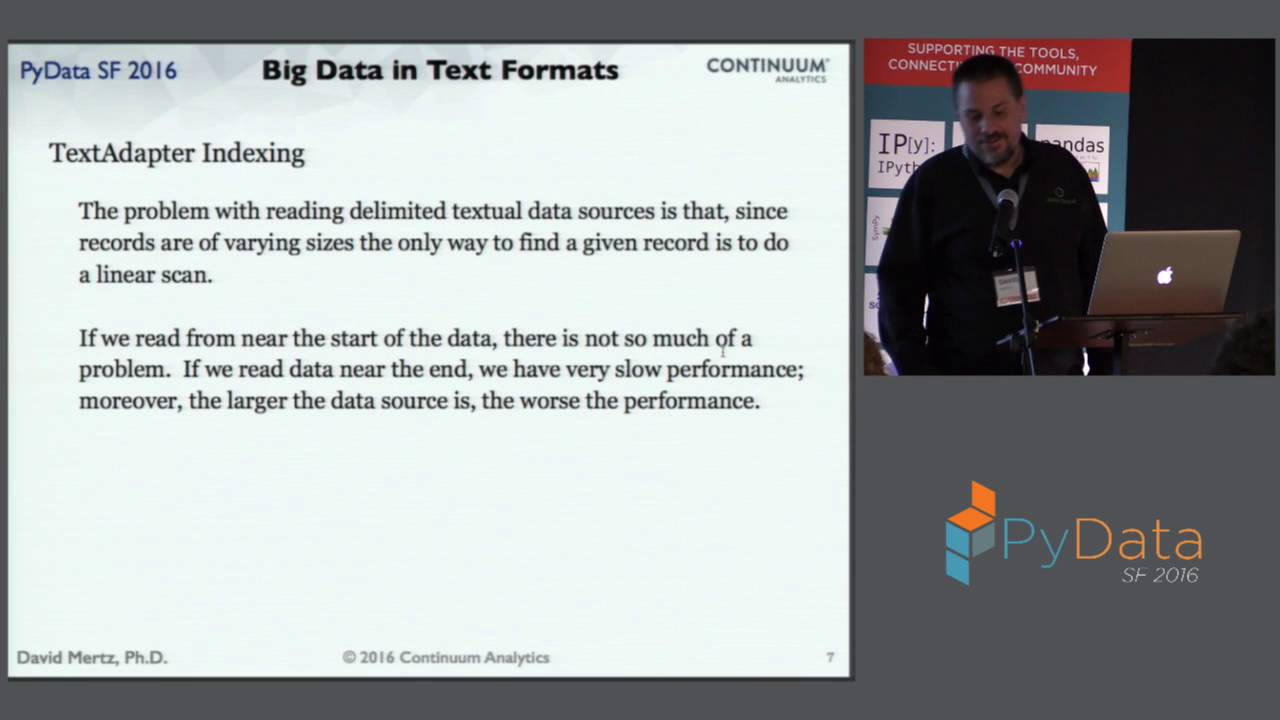 Image from Keynote: Working Efficiently with Big Data in Text Formats