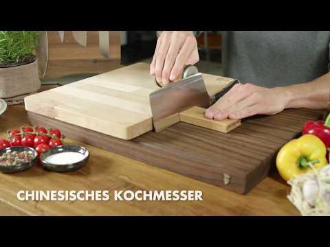Unterschiedliche Küchenmesser schärfen mit dem Rollschleifer von HORL-1993