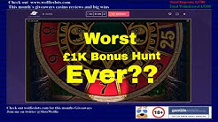 Online slots £1000 bonus hunt + offline bonuses