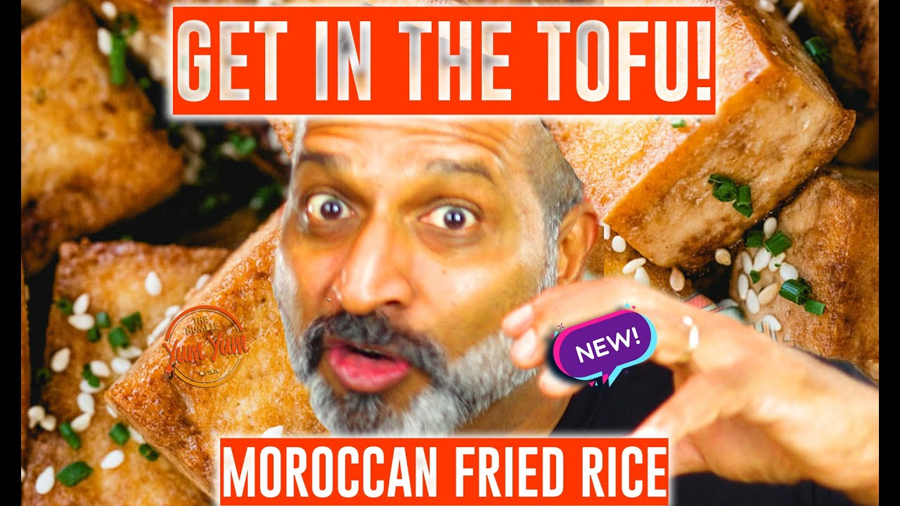 MOROCCAN FRIED RICE  w/ tofu & coriander. (SOY-YONARA - PART 3) Feed 4 for under $20! ONE PAN!