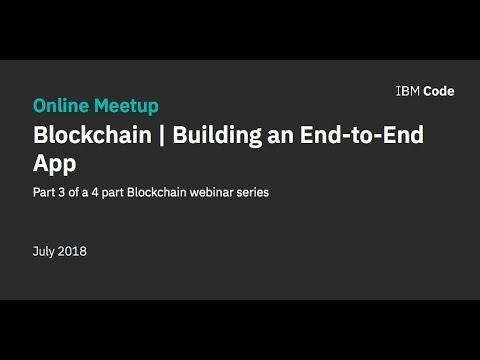Build an end-to-end blockchain app in 28 minutes