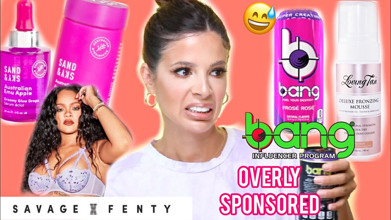 I TRIED OVERLY SPONSORED PRODUCTS! whats the REAL tea?