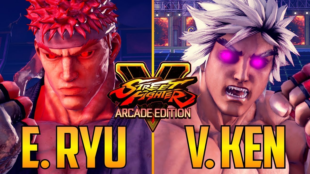 Sfv Evil Ryu Vs Violent Ken In Street Fighter V Youtube