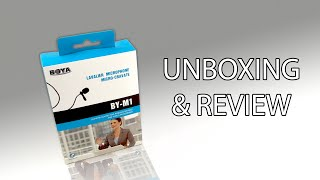 [Unboxing & Review] BOYA BY-M1 Omnidirectional Lavalier Condenser Microphone