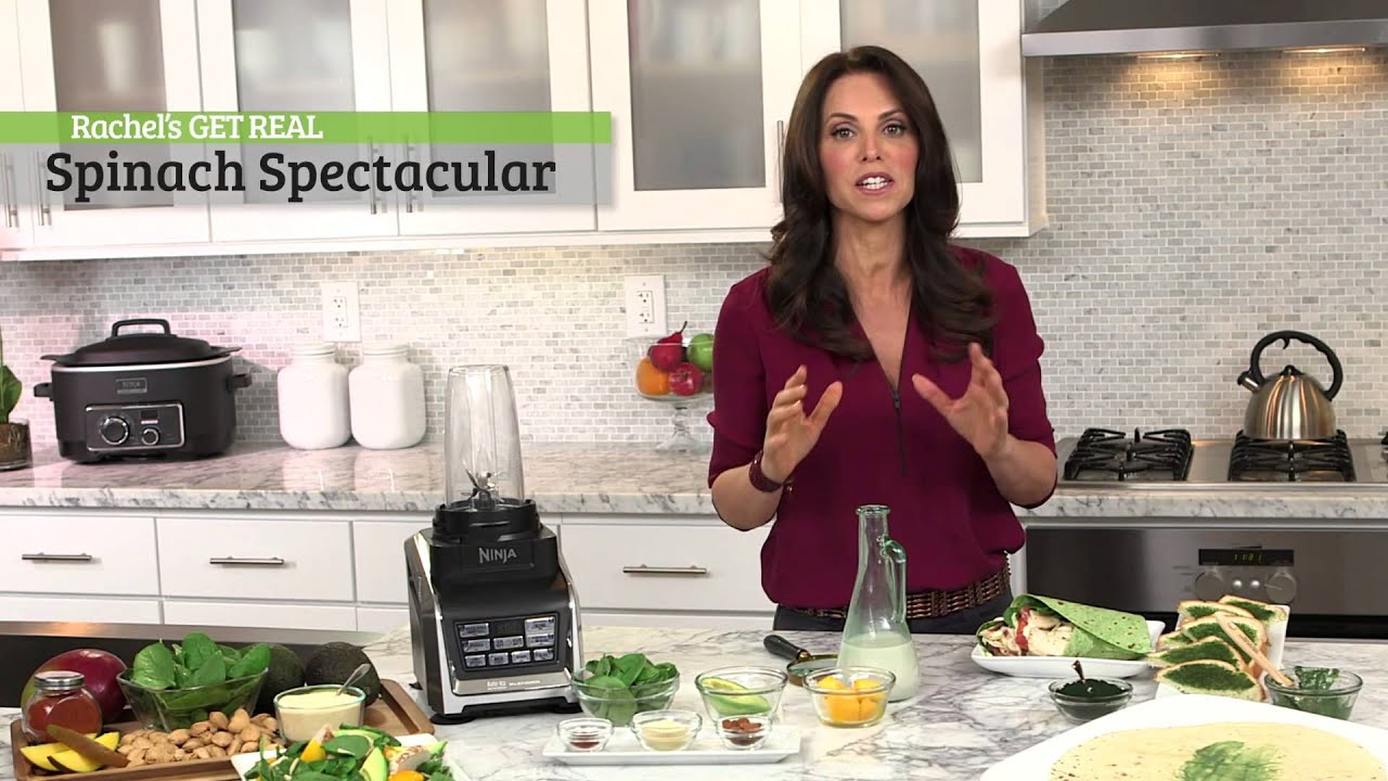 rachel beller and ninja® kitchen - spinach spectacular recipe