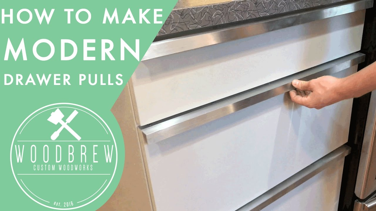 how to make cheap modern drawer pulls  youtube - how to make cheap modern drawer pulls