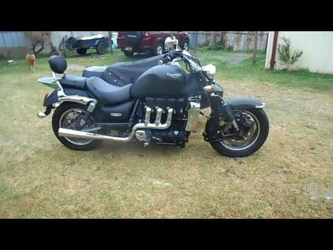 Triumph Rocket III, new Viking exhaust.