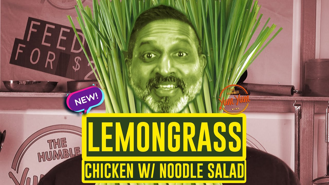 LEMONGRASS CHICKEN w/ rice noodle salad! Feed 4 for under $20! ONE POT - ONE PAN