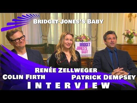 Bridget Jones's Baby -Colin Firth, Renee Zellweger and Patrick Dempsey Interview
