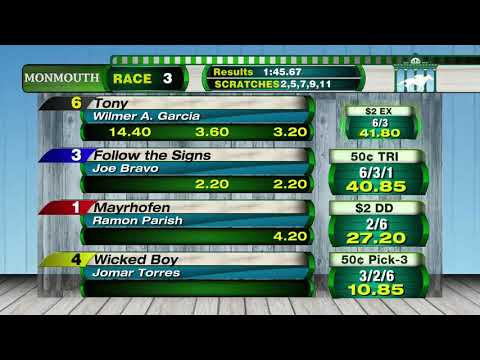 video thumbnail for MONMOUTH PARK 5-12-19 RACE 3