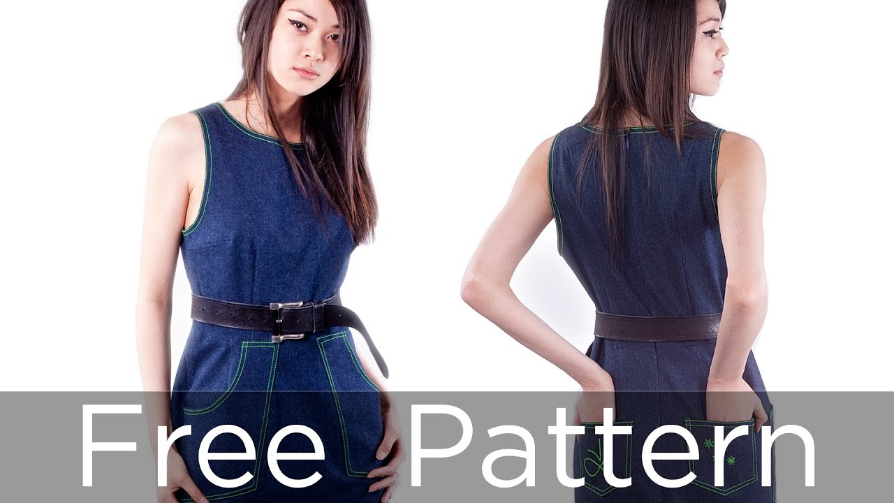 Make a dress part 1 free sewing pattern from angela kane youtube jeuxipadfo Images