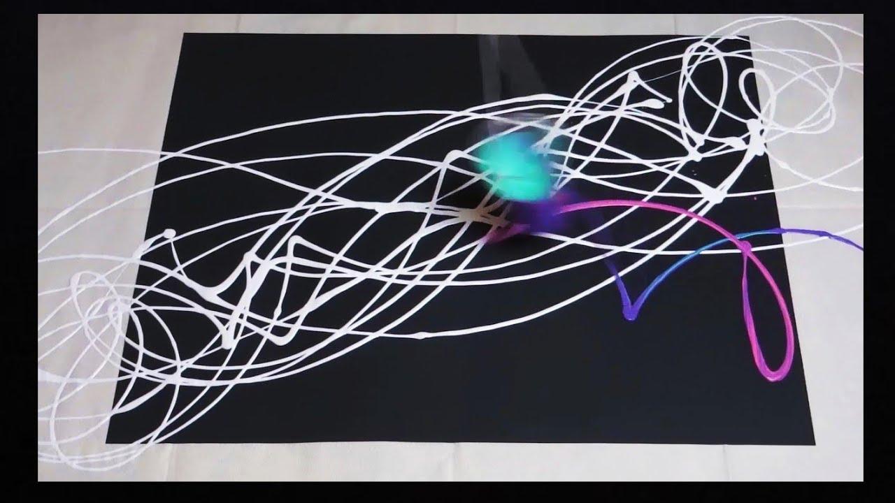 Pintura Abstracta Con Pendulo Dibujante Youtube