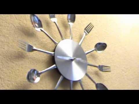 Часы Настенные столовые приборы