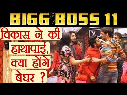 Bigg Boss 11: Vikas Gupta gets into a physical fight with Puneesh; expelled from captaincy FilmiBeat