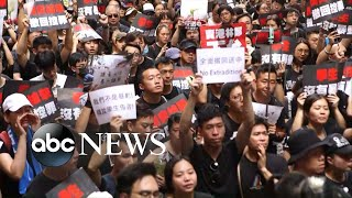 People of Hong Kong protesting in record-breaking numbers