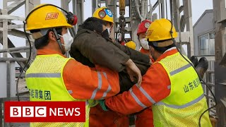 China mine rescue: Nine people found dead after gold mine collapse - BBC News