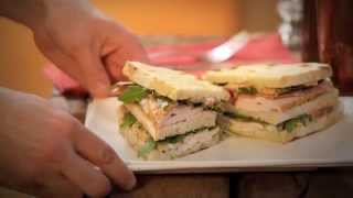 Turkey Club With Roasted Eggplant Purée Recipe - Cuisine Solutions