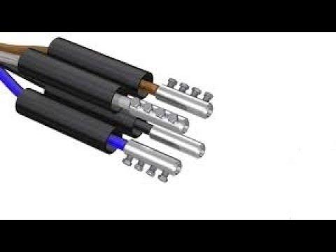 видео: Соединение вводного кабеля с помощью муфты в новострое.