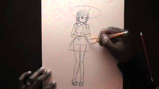 How to Draw a Girl in a Dress.