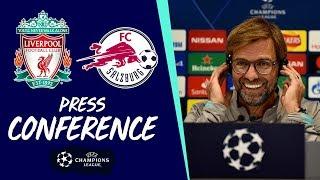 Liverpool's pre-Salzburg Champions League press conference | Jürgen Klopp & Sadio Mane