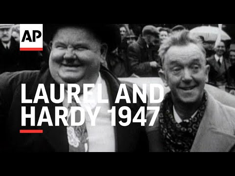Laurel and Hardy having fun at the Romney, Hythe and Dymchurch Railway