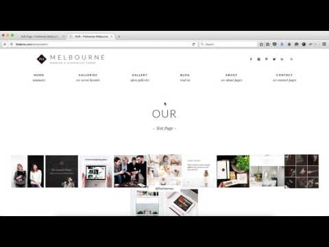 Flothemes :: Melbourne - Blog and Gallery Pages