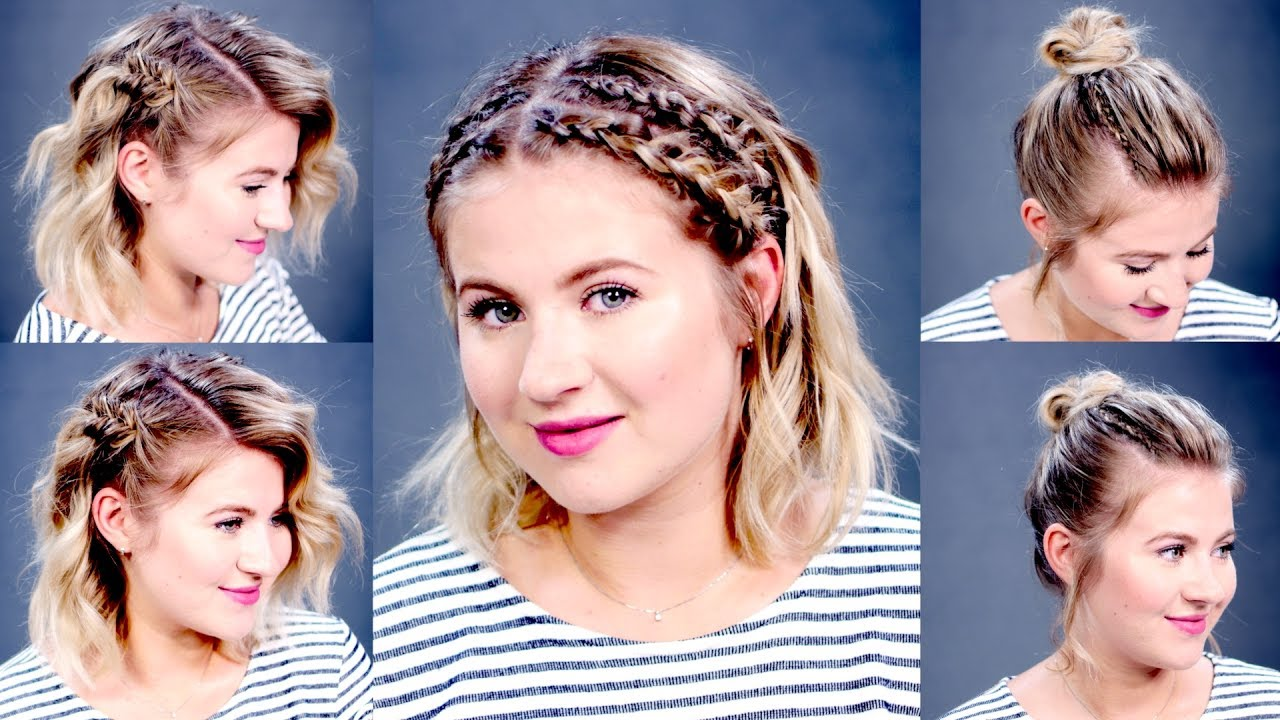 3 easy summer hairstyles for short/medium hair | milabu