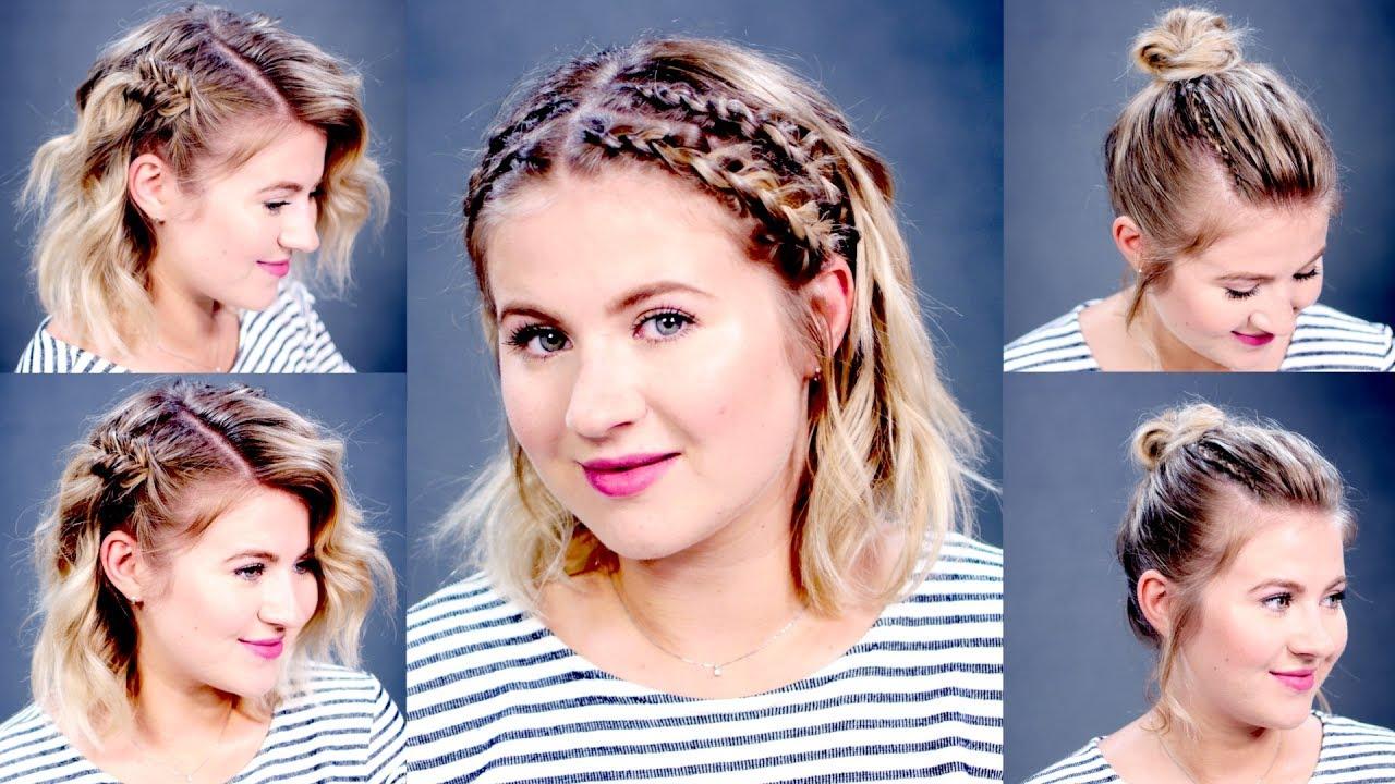3 easy summer hairstyles short medium