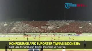Keren! Ini Koreografi Suporter Indonesia saat Mendukung Timnas Melawan Malaysia