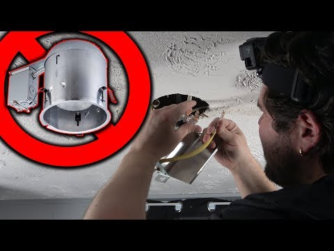 DIY | How To Install Recessed Lighting With No Housing Or J-Boxes