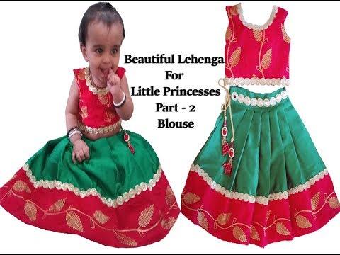 Kids Designer Lehanga and Choli  Cutting and Stitching Part -2 | Kids Wear