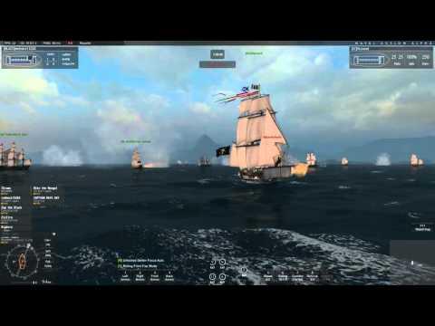 Naval Action Ep. 7 Pirates Vs. British At Port Royal!