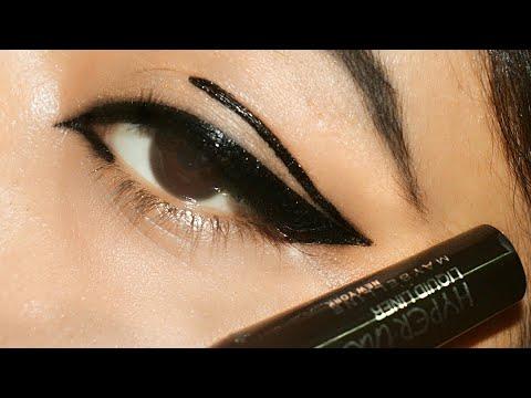 4c6665a6eee Maybelline Hyperink Liquid Liner Black Review&Demo|Indian blogger ...