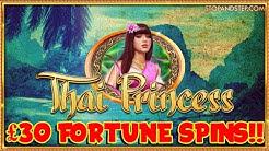 £30 FORTUNE SPINS!! Thai Princess slot in William Hill
