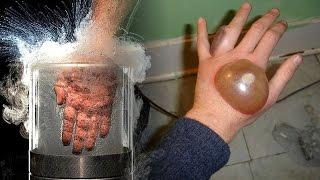 O Que Acontece Se Você Colocar a Mão Em Nitrogênio Líquido? - NÃO FAÇA ISSO!