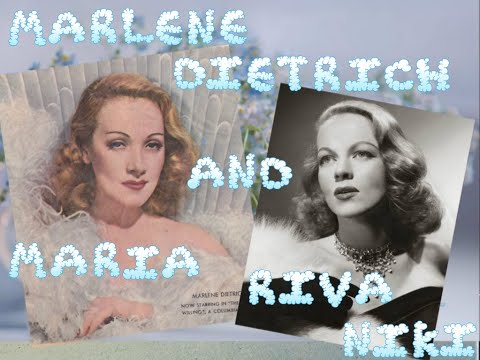 Marlene  Dietrich  and  Maria  Riva