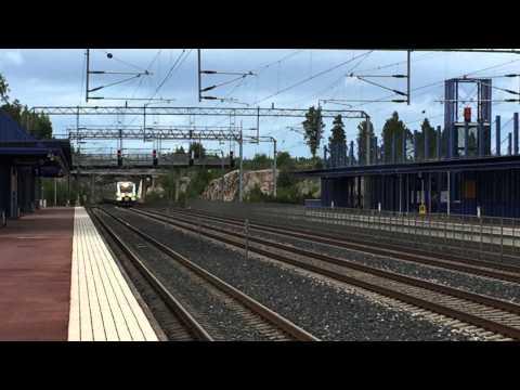 [VR] Pendolino service nr. S76 Kuopio → Helsinki passes slightly delayed past Haarajoki station.