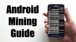 Android Mining Guide - How To Mine Crypto Coins On Mobile Phones