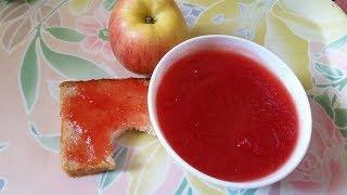 আপেলের জ্যাম, Apple Jam with 3 ingredients,  Apple Jam Recipe, How To Make Apple Jam