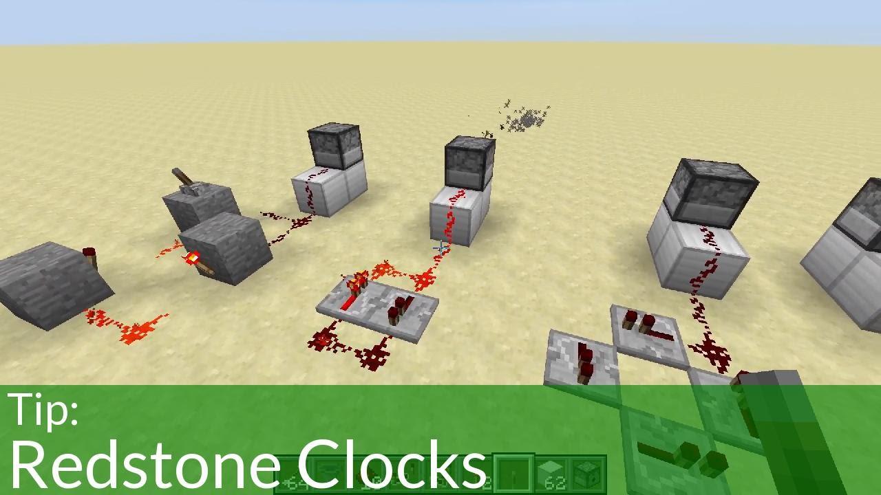 Tip: Redstone Clocks in Minecraft