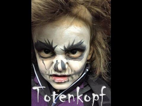 Kind Als Totenkopf In 2 Minuten Schminken Halloween Karneval