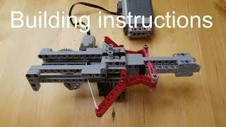 Lego Firing Mechanism Building Instruction Video