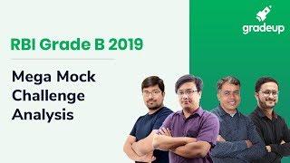 RBI Grade B 2019 Mega Mock Challenge (23rd-24th October 2019): Live Video Analysis