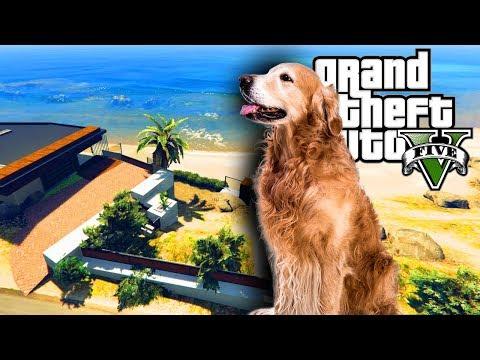 GTA 5 MOD VILLA AL MARE: Giardino per i cani!