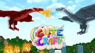 ICE VS FIRE DRAGON!!   CuteCraft FINALE