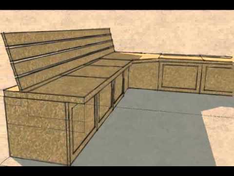 Built-in Kitchen Bench Seat/Storage - YouTube