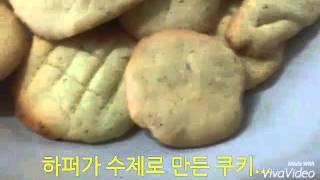 하퍼의 일상 수제로 쿠키 만들기!! 다 먹음
